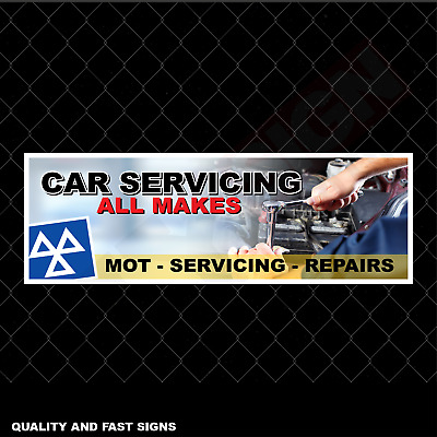 Car Servicing All Makes Garage Signage Colour Sign Printed Heavy Duty 4159