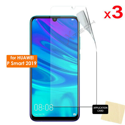 3 Pack CLEAR LCD Screen Protector Cover Guards for New Huawei P Smart 2019