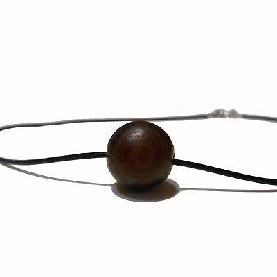 A stunning Indo-Tibetan agate bead with wonderful natural banding