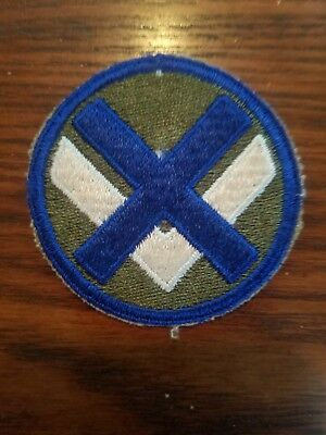 WWII U S Army 15th Corps Cut Edge Snow Back Patch 1940s near mint