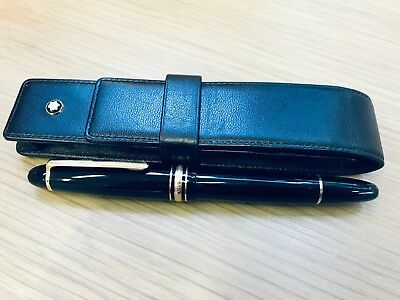 Genuine Montblanc Meisterstuck Le Grand Rollerball Pen With Leather Case