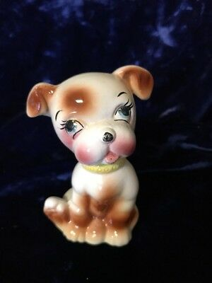 Vintage Brown & White Puppy Dog made in Japan