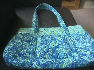 Knitting Bag - Green/Blue/Yellow - Zipped Top - Brand new without tags