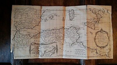 1738 Antique Map Africa Carthaginian Empire - D'anville Rollin's Ancient History
