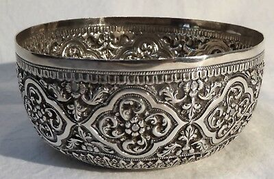Antique Silver-Repoussé Bowl, Bhuj, Kutch, Northwest India.