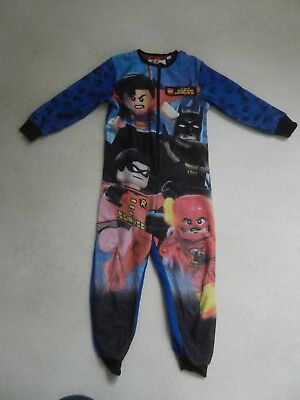 Tesco Boys Lego Super Heroes All In One Sleepsuit Batman Flash Age 5-6 Years