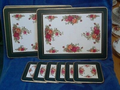 Old Country Roses -  Cork Backed Laminated Placemats  & Coasters X 6