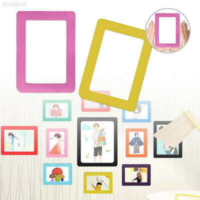 1BA1 Fashion Photo Frame Magnetic Refrigerator Wall Sticker Picture Frames
