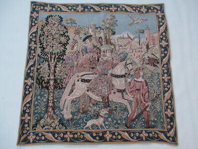 4783 - Old French / Belgium Tapestry Wall Hanging - 77 x 79 cm