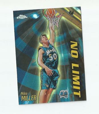 Mike Miller 2000-01 Topps Chrome Refractor No Limit Nl16 Magic Rare Sp
