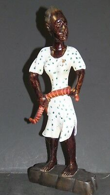 "Carved Wood ""black/african-American Lady Snake Handler"" Sgnd / 1-13A"