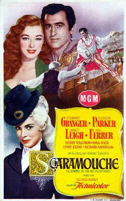 RARE 16mm Feature: SCARAMOUCHE (Stewart Granger / Janet Leigh) MGM Classic
