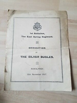 Ist Battalion, East Surrey Reg, The Silver Bugles, 1927 Programme Of Music
