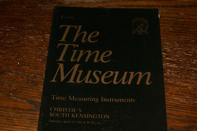 From The Time Museum,  Time Measuring Instruments  Christie's Sale Catalogue1988