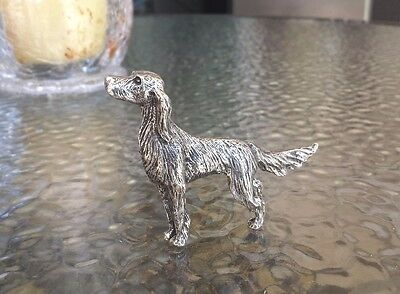House Pet 1 English Irish Setter Dog Three Dimensional Pewter Figurine Statue