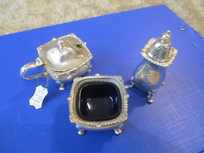 Solid Silver Aspreys cruet set 1958 Birmingham Lovely thing