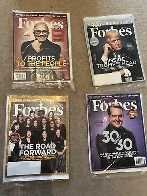 Job Lot 4x Forbes Magazines New And Sealed