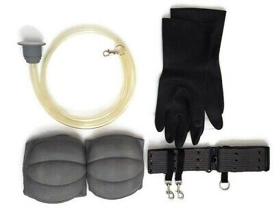 Ghostbusters accessory pack - yellow hose,leg connector,elbow pads, gloves, belt