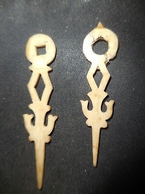 set old railroad  cuckoo clock  bone hands [ nr ]