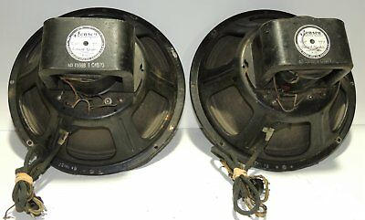 Pair Jensen A12 Field Coil Speakers For Your Western Electric Tube Amplifiers