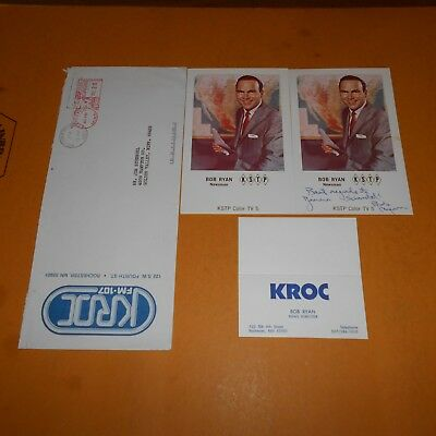 Bob Ryan KSTP Radio in 1948 and was a pioneer in TV reporting Hand Signed Photo