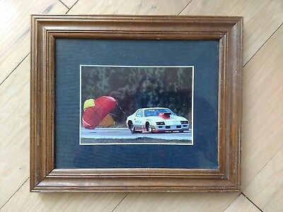 Framed and Matted Reher, Morrison & Shepherd Pro Stock Camaro photo  Chute open!