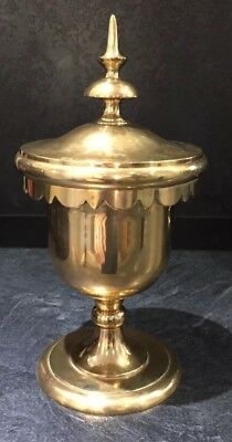 Large Important Brass Covered Cup Chalice/ciborium.