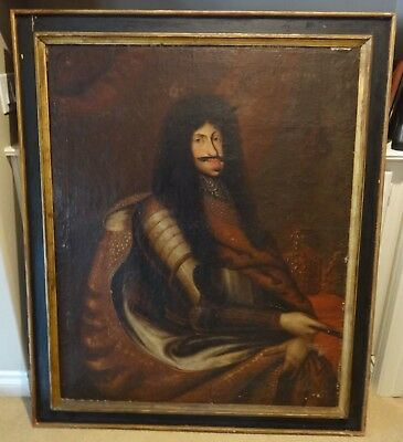 Old Master Oil On Canvas Portrait Of King Louis Xiii Of France,  Painting