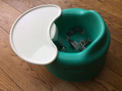 Bumbo Teal baby seat with tray