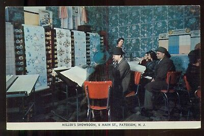 "1950's Paterson,NJ - Miller's Showroom ""Zins Imperial Wallpaper"" Postcard"