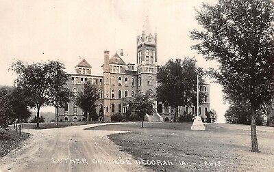 RPPC ~ Decorah, IOWA ~ Luther College ~ Main building with tower ~ Circle drive