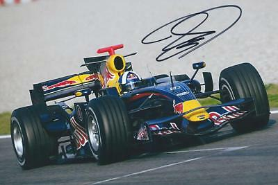 David Coulthard 2008 Red Bull Racing RB14 - Renault Originally Signed F1 Photo