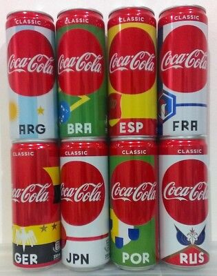 Myanmar Coke 2018 FIFA World Cup Russia set 8 cans 330 mL MPT