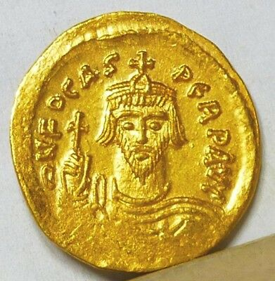Byzantine Gold Solidus ND (607-610) Brilliant Uncirculated