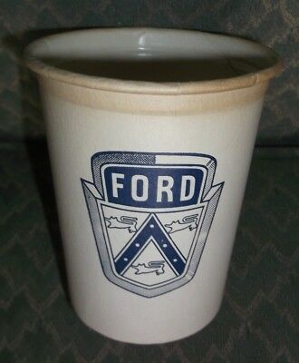 vintage FORD Automobile Dealership Paper Water Drinking Cup w/ Ford Badge Logo
