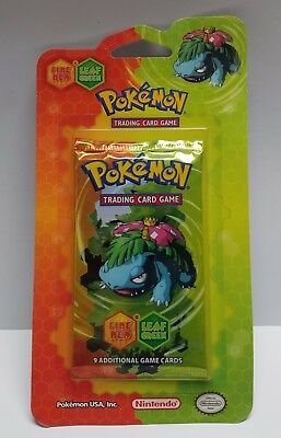 Pokemon Booster Pack 9 Cards 2004 Fire Red Green Leaf New Sealed Venusaur Game