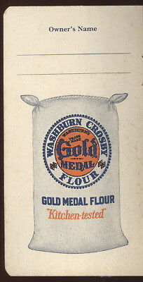 1930-40S Pocket Notebook, Washburn Crosby Fold Medal Flour & Wheaties Advertisin