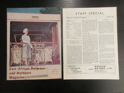 East African Railways & Harbours staff magazine Vol 4 No 2 April 1959 + suppleme