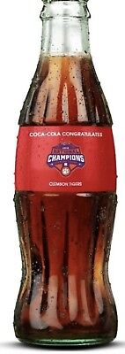 2018 Clemson Tigers National Champions Championship Coke Bottle