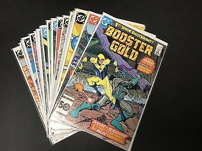Booster Gold Dc Comics 1986 Complete Set 1-24 Run Lot Superman Justice Vf/nm