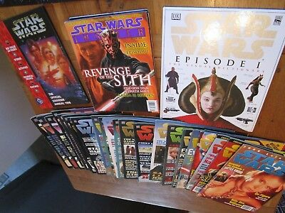 Star Wars The Official Magazine x22 1996- 1999 joblot + more