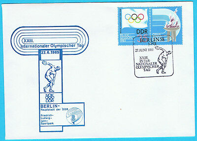 Internationaler Olympischer Tag Berlin 1985 - FDC - DDR - Sonderstempel Berlin