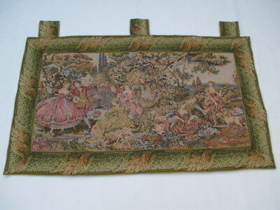 4745 - Old French / Belgium Tapestry Wall Hanging - 142 x 83 cm