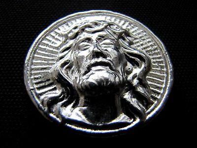 HACMint 2.3 oz 999+ Fine Silver High Relief JESUS Hand Poured BAR COIN ROUND