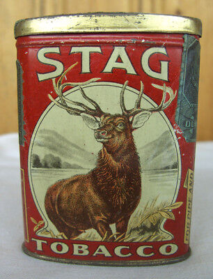 Tabackdose,Blechdose,STAG TOBACCO  Tin, General Store,Saloon,Western Zimmer