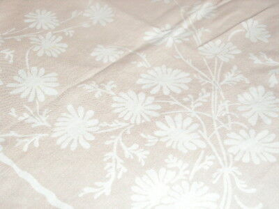 Vintage Queen Anne Tablecloth Indian Head Cotton Print Tablecloth Daisy Print