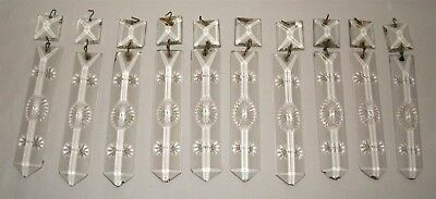 Vintage Crystal Prism Lot Star Design Antique Chandelier Lamp