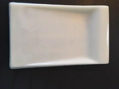 Vintage White Milk Glass Dental Instruments Tray The American Cabinet Co. WI