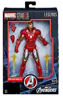 "Hasbro 2017 6"" Marvel Studios First 10 Years Legends Series Iron Man VII NIB"