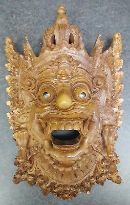 Bali Barong, Hand Crafted Wood Mask Wall Art Indonesia- FREE SHIPPING